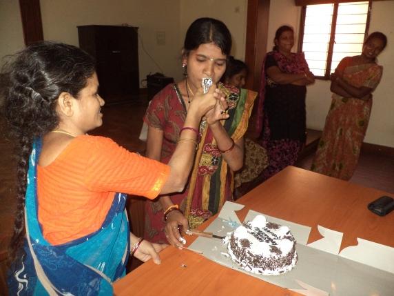 Friends gathered to wish Sravani a very happy birthday